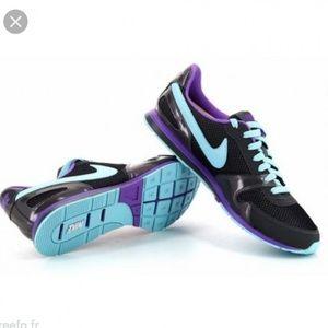 Nike Eclipse gray purple blue sneakers